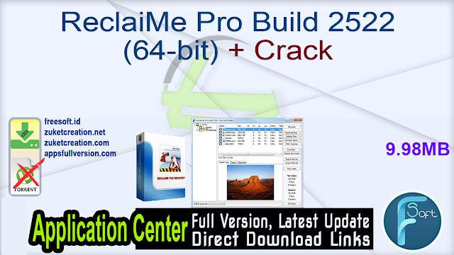 ReclaiMe Pro Build 2522 (64-bit) + Crack