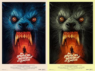 An American Werewolf In London Screen Print by Gabz x Vice Press
