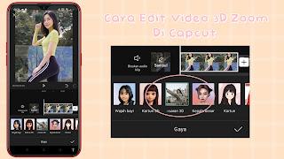 Cara Edit Foto Efek 3D Zoom Di Capcut
