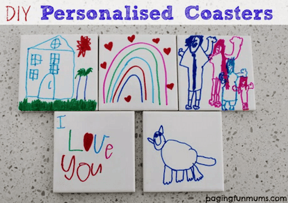 Personalised coasters for kids to make for Christmas