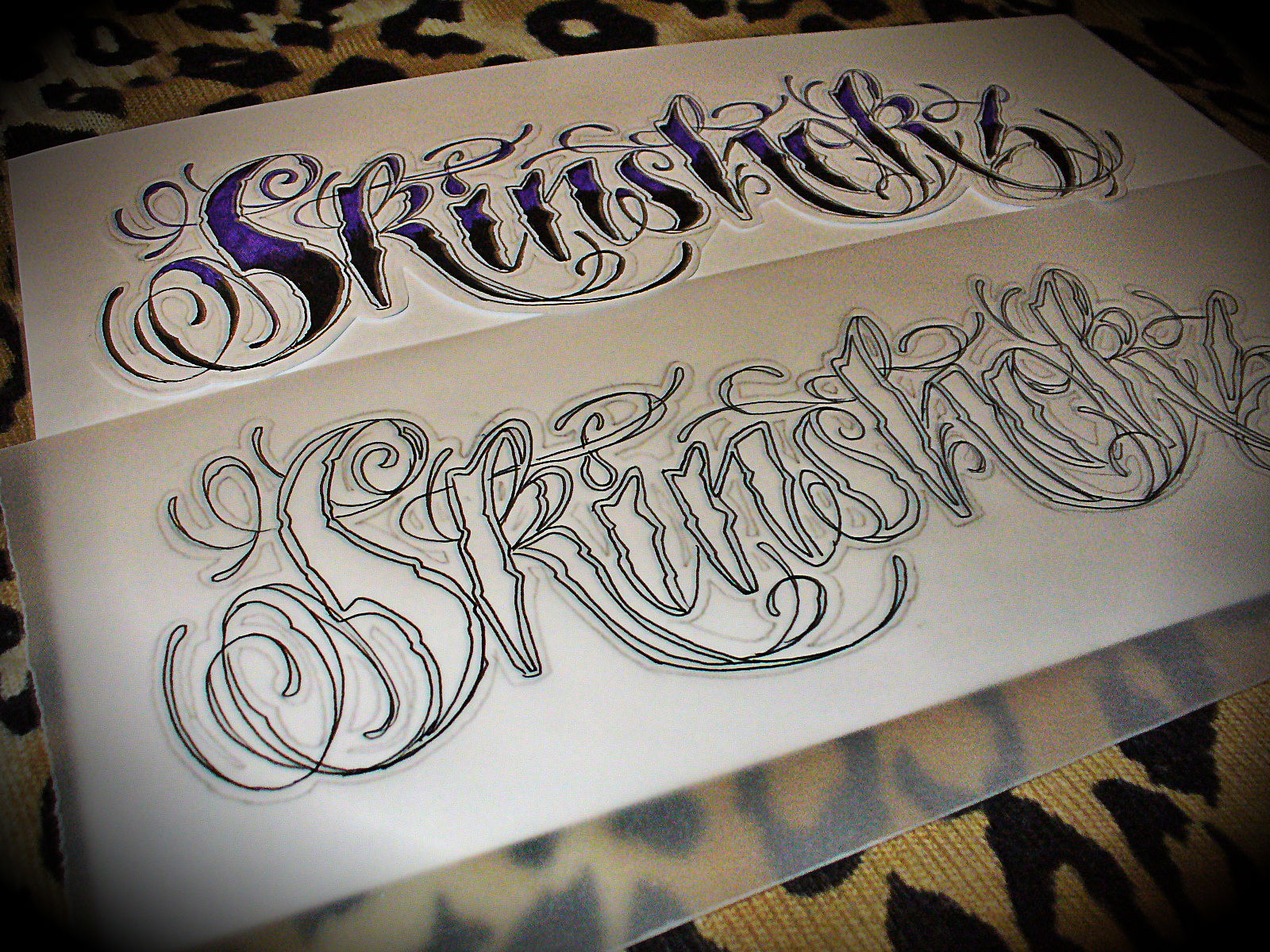 Tattoo Fonts: LizVengeance Art: Skinshokz Tattoo Script