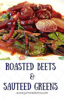 Roasted Beets and Sauteed Greens