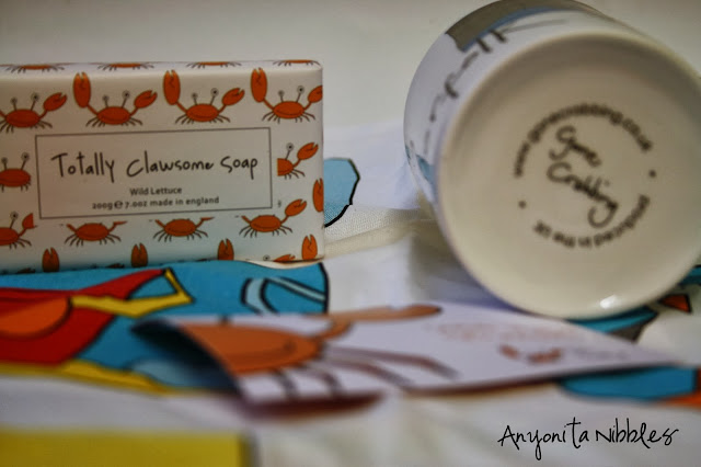 Gone Crabbing soap, mug and tea towel from www.anyonita-nibbles.com