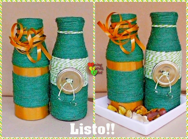 Botellas-decorativas-de-color-verde