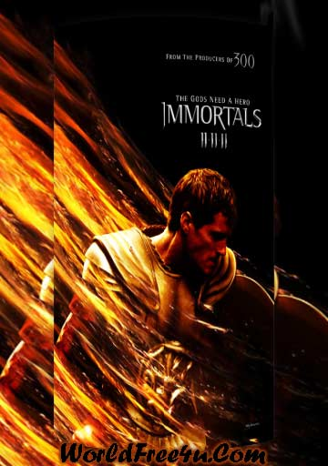 Poster Of Immortals (2011) In Hindi English Dual Audio 300MB Compressed Small Size Pc Movie Free Download Only At worldfree4u.com