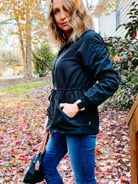casual women's jackets for fall, affordable women's jackets, zyia active jackets, zyia reviews, casual black jacket