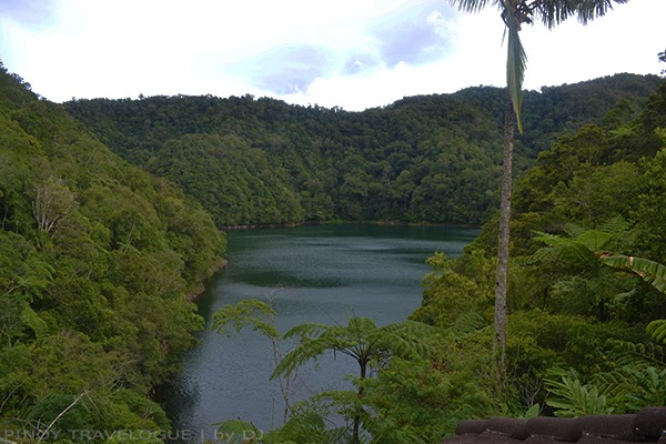 Lake Danao from the view deck