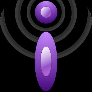 purple and black iBlogger icon