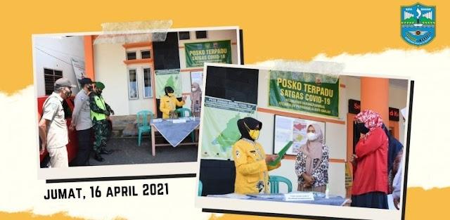 Walikota Banjar Monitoring Posko Terpadu  Penanganan Covid-19 di Kelurahan Karangpanimbal