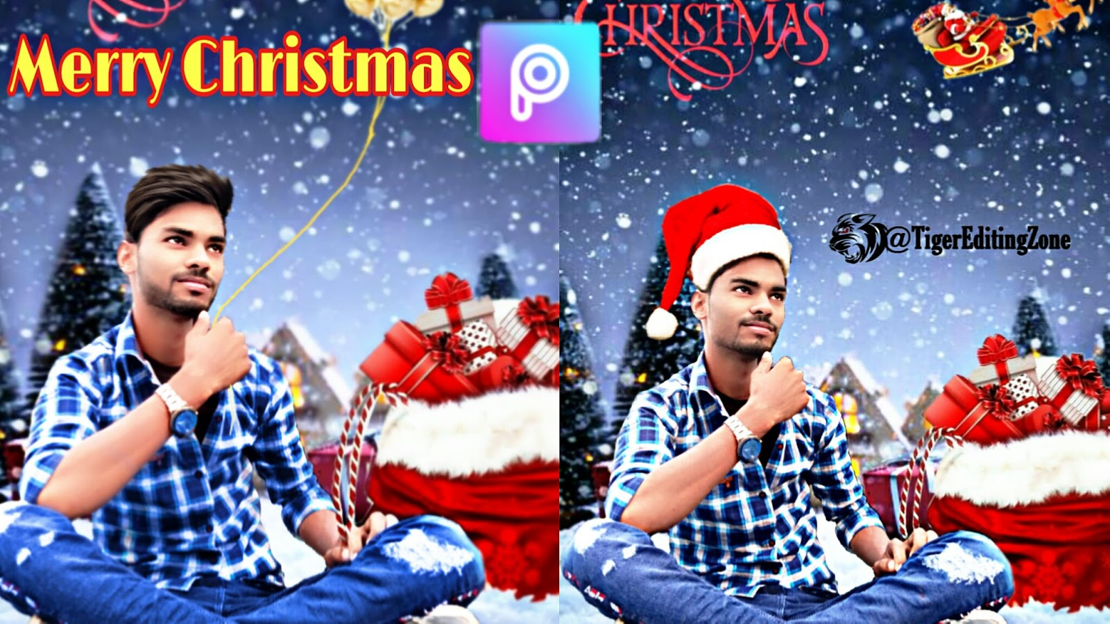 Picsart Merry Christmas Photo editing Tutorial 2020 || Happy Christmas Day Editing By Tiger Editing Zone
