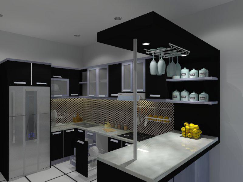 Desain Kitchen Set Minimalis Yang Cocok Untuk Rumah Anda Mozaik