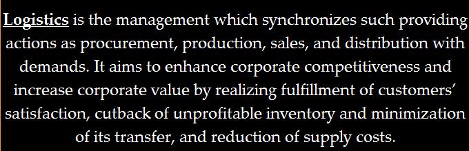 Logistics definition I