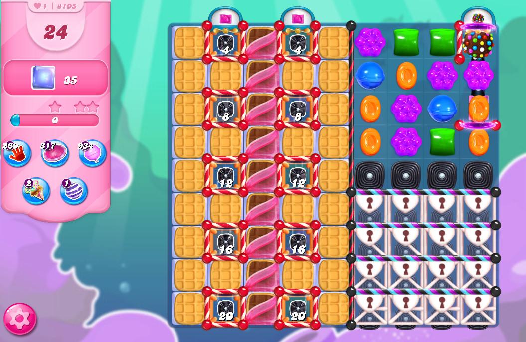 Candy Crush Saga level 8105