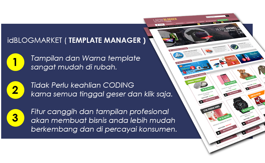 Template toko online blogger - LapakBlogger