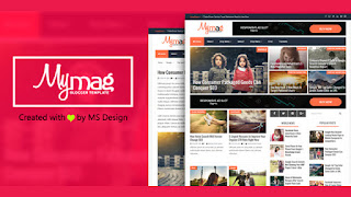my mag magazine blogger template responsive