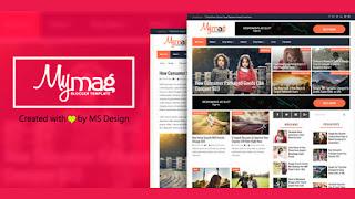 My mag magazine blogger template responsive