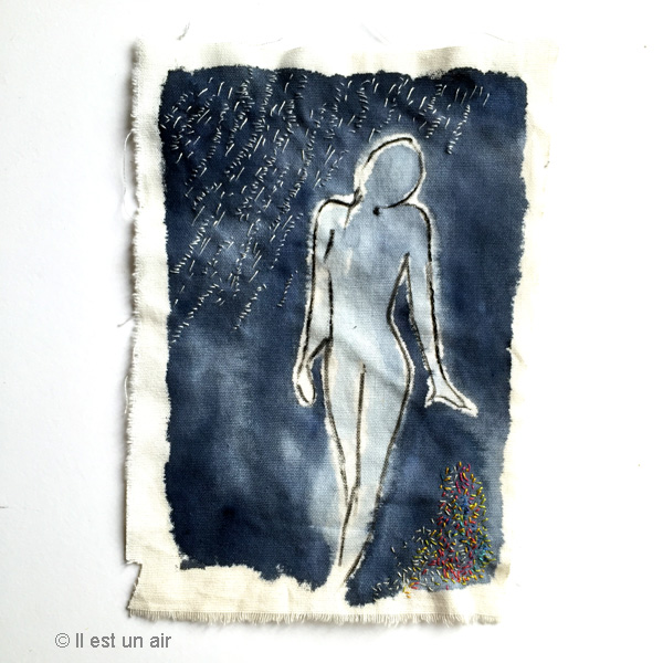 silhouette brodée