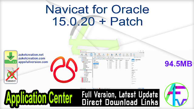 Navicat for Oracle 15.0.20 + Patch