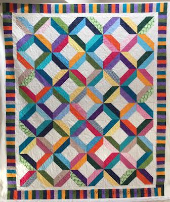 Margaret's Bright Modern Quilt
