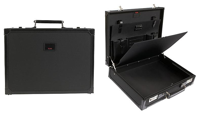 tumi hard briefcase