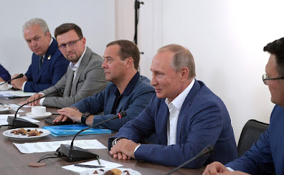 Vladimir Putin and Dmitry Medvedev Meeting with scientists and public figures of Sevastopol and Crimea.