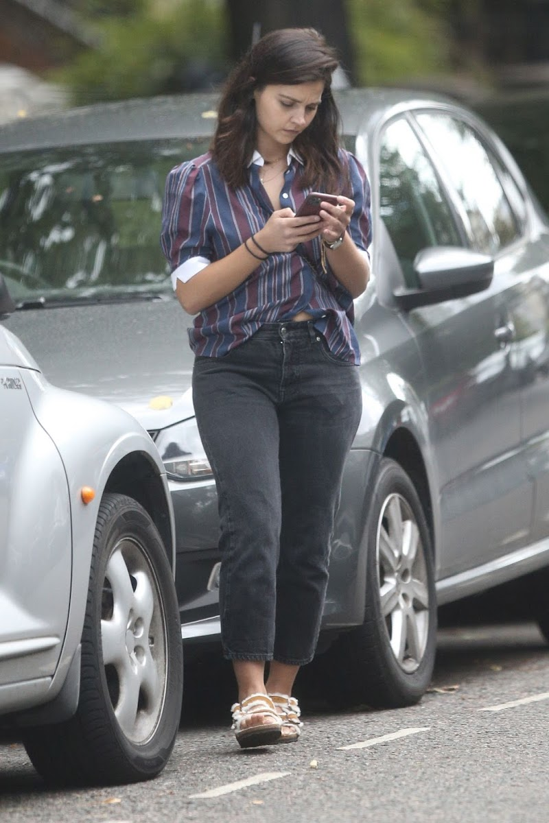 Jenna Coleman Spotted Outside Shopping in London 10 Jul -2020