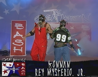 WCW Great American Bash 1999 - Konnan and Rey Mystery Jr of the Filthy Animals