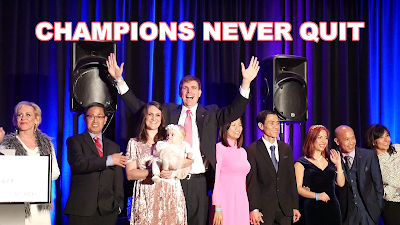 Timothy McGaffin II and Cheri McGaffin awarded on stage Enagic Kangen Water - Champions Never Quit