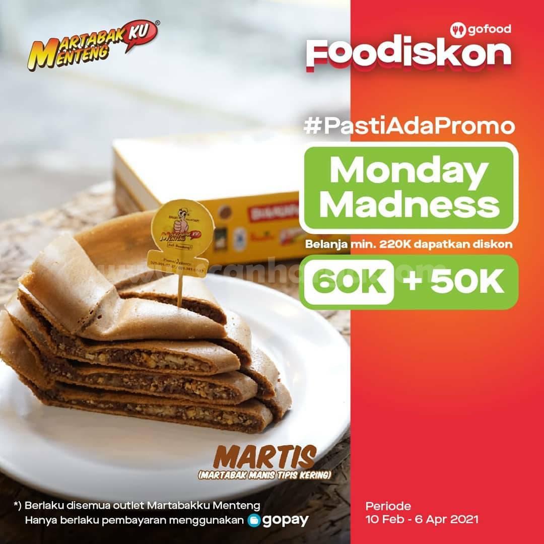 Martabakku Menteng Promo Monday Madness GOFOOD! Diskon Rp 60.000 + 50.000