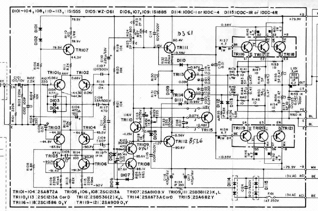 YAMAHA P-2200 POWER-AMP SCHEMATIC