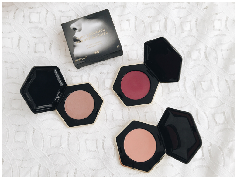 h&m beauty products, blush, review
