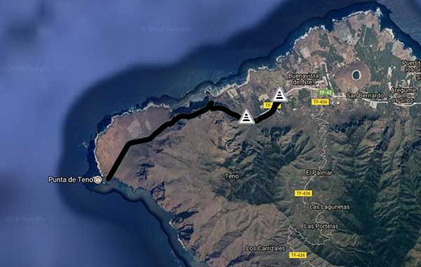 Carreteras cortadas por la borrasca en Canarias