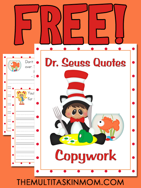 38 FREE Early Learning Printables Inspired By Dr Seuss