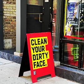 Clean Your Dirty Face facial bar.