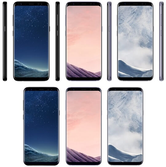 Samsung Galaxy S8 and S8+ Color Options and Pricing Revealed