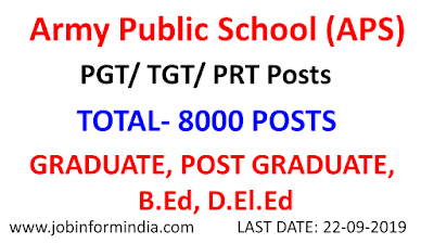 Army Public School Teacher Recruitment: Apply Online For 8000 Teacher Vacant Posts
