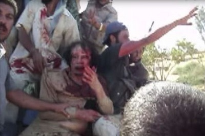 UNSEEN FOOTAGE: The Moment Libyan Dictator, Gaddafi Was Captured And Lynched By Angry Mob (Photos + Video)