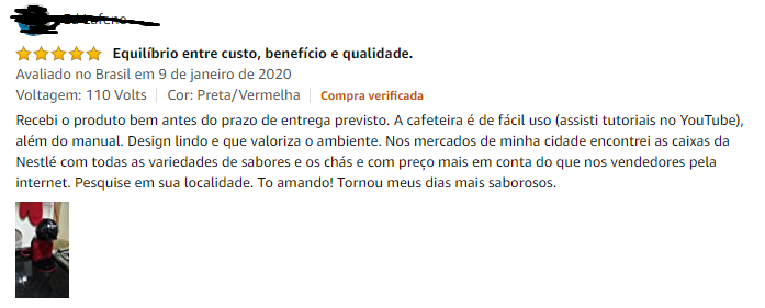 Opinião de compradores a respeito da cafeteira Dolce Gusto Mini Me Automatica