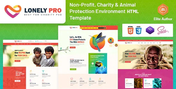 Best Charity and Animal Protection Environment Template