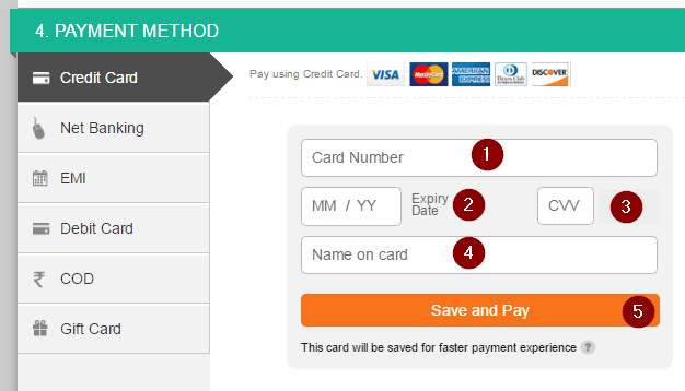 Payment Method Select Kare