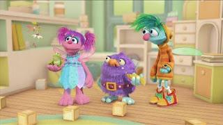 Abby's Flying Fairy School Pet Day, Abby Cadabby, Blögg, Gonnigan, Mrs. Sparklenose, Sesame Street Episode 4410 Firefly Show season 44