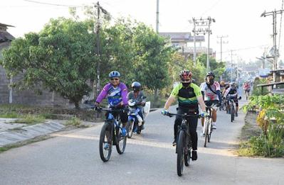 Gowes Sosial, Kapolda Keliling Kota Hingga ke Sebrang Kota Jambi