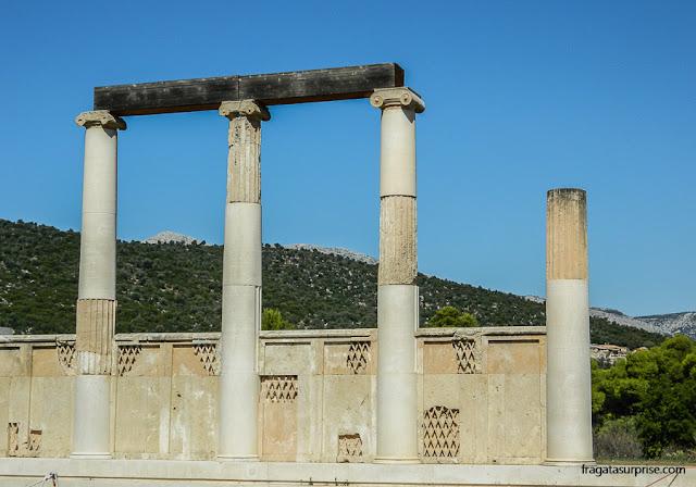Katagogeion, antigo alojamento dos pacientes do Santuário de Asclépio