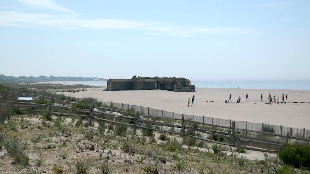 World War II Bunker on Beach in Cape May New Jersey
