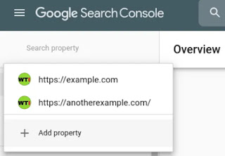 Select properties Google search console, submit sitemap to Google search console