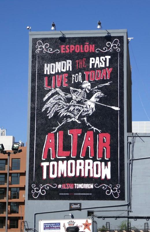 Espolon Tequila Altar tomorrow billboard