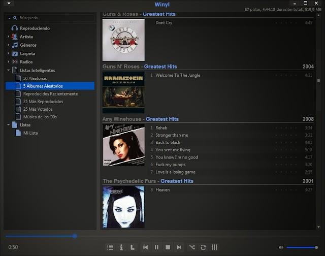 Winyl 3.3.1 + Portable | Reproductor y catalogador de música ideal para ordenadores portátiles o netbooks