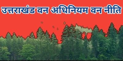 उत्तराखंड वन अधिनियम | वन नीति, वन आंदोलन | वन्य जीव - Forest Act And Regulations