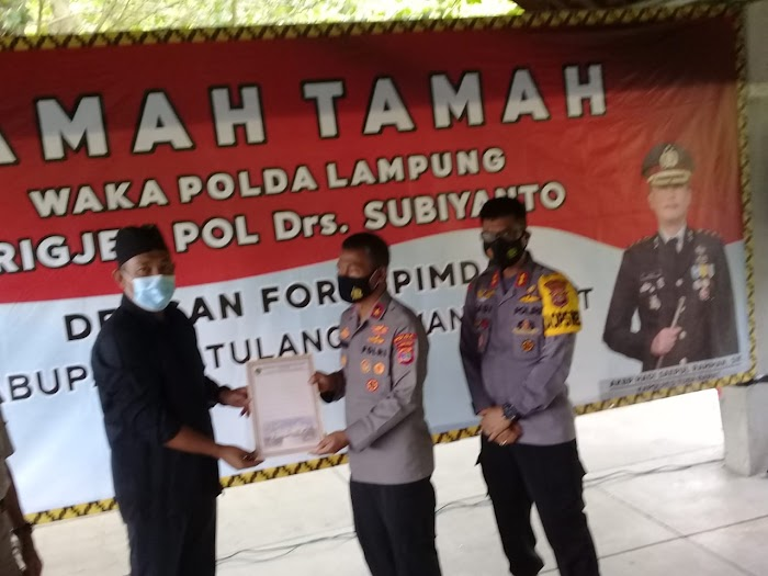 Waka Polda Lampung Tinjau Lokasi Kantor Polres Tubaba.
