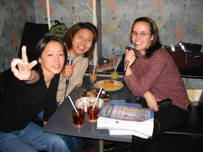 Karaoke in Japan, with some of my favourite students